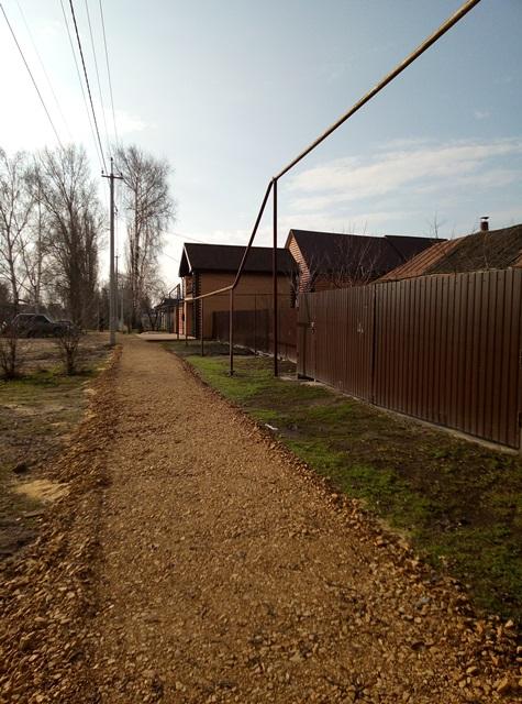 Начаты работы по благоустройству пешеходной зоны слободы Беломестное