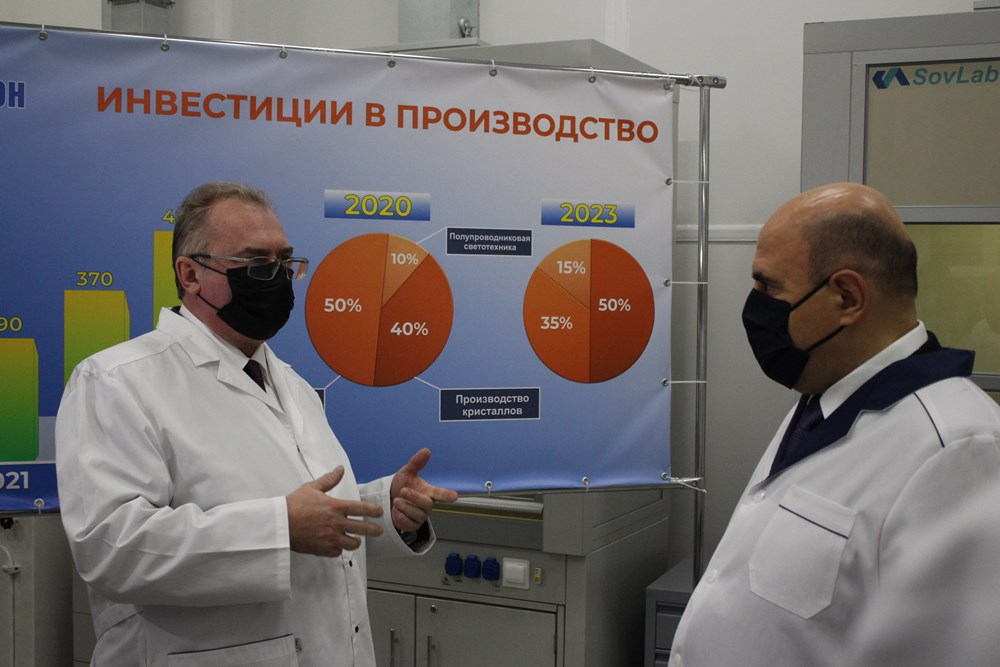 Михаил Мишустин ознакомился с производством предприятия «Протон» в Орле
