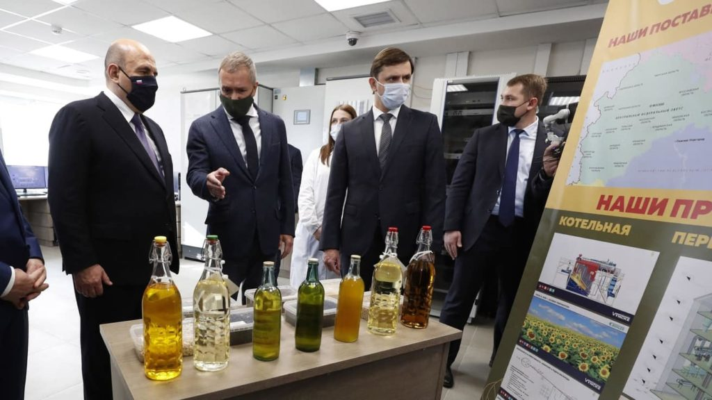 Ещё одним пунктом рабочей программы Михаила Мишустина в Орловской области стало посещение завода «Орелмасло»